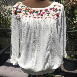 solitaire by ravi khosla Embroidered & crochet top